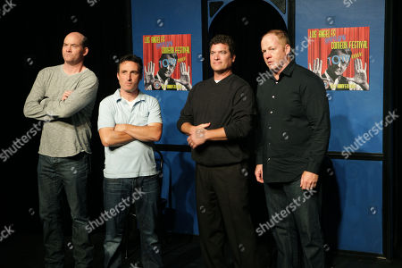 From left, David Koechner, Peter Hulne, Pat Finn and Michael Coleman of Beer Shark Mice perform during the 10th Annual LA Improv Festival at iO West on in Los Angeles