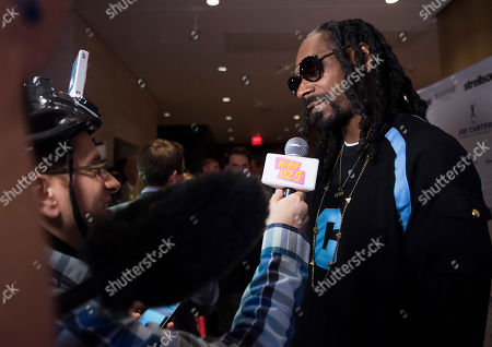 Snoop Dogg seen on the red carpet at the Joe Carter Classic after party at the Shangri-La Hotel, in Toronto, Canada