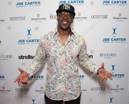 Maestro Fresh Wes seen on the red carpet at the Joe Carter Classic after party at the Shangri-La Hotel, in Toronto, Canada