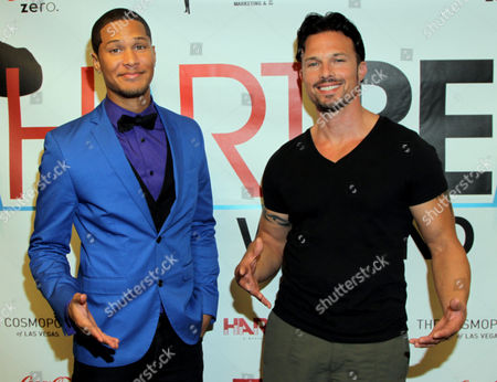 Power Rangers Najee De-Tiege and Rick Medina seen at Hartbeat Weekend Events - All Star Comedy Show at Chelsea Theatre at The Cosmopolitan on in Las Vegas, Nevada