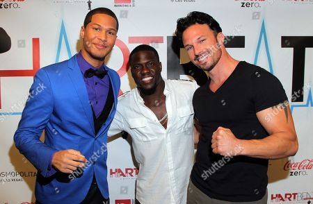 Power Rangers Najee De-Tiege, Kevin Hart and Rick Medina seen at Hartbeat Weekend Events - All Star Comedy Show at Chelsea Theatre at The Cosmopolitan on in Las Vegas, Nevada