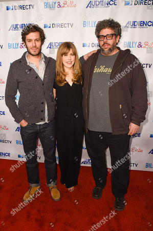 "Stock Picture of Adam Brody, from left, Lisa Joyce and Neil Labute arrive at a premiere of ""Billy & Billie"" at The Lot, in West Hollywood, Calif"
