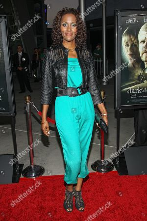 """Actress Nayo Wallace arrives at the premiere of """"Dark Tourist"""" at the ArcLight Cinemas on in Los Angeles"""