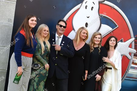 "Dan Aykroyd, Donna Dixon and family arrive at the Los Angeles premiere of ""Ghostbusters"" at the TCL Chinese Theatre on"