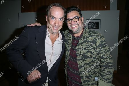 "John Farley, left, and Horatio Sanz attend the after party for the LA Premiere of ""I Am Chris Farley"" at the Linwood Dunn Theater, in Los Angeles"