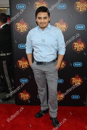 """Douglas Spain attends the premiere of """"The Book of Life"""" at Regal Cinemas at LA Live on Sun, in Los Angeles"""