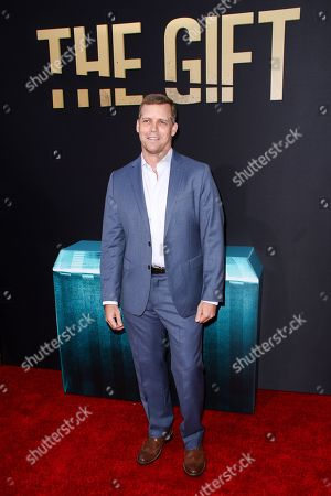 """Tim Griffin arrives at the LA Premiere of """"The Gift"""" held at Regal Cinemas L.A. Live, in Los Angeles"""