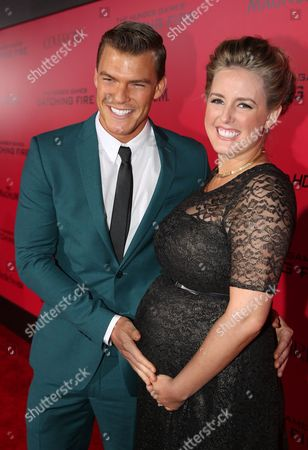 """Alan Ritchson and Catherine Ritchson attend the LA premiere of """"The Hunger Games: Catching Fire"""", in Los Angeles"""