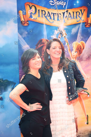 "Director Peggy Holmes, left, and Producer Jenni Magee Cook arrive at LA Premiere of ""The Pirate Fairy"" on in Burbank, Calif"