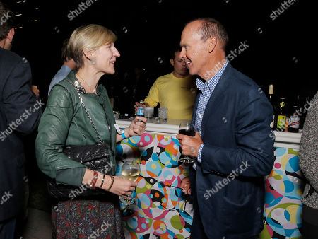 """HBO Entertainment President Sue Naegle and Michael Keaton attend the after party for the premiere of """"Clear History"""" at the Cinerama Dome on in Los Angeles"""