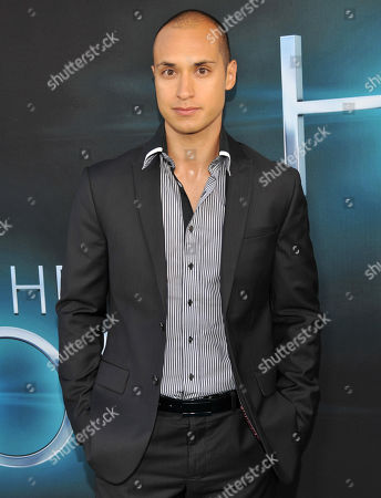 "Jaylen Moore, a cast member in ""The Host,"" poses at the Los Angeles premiere of the film at the ArcLight Hollywood on in Los Angeles"