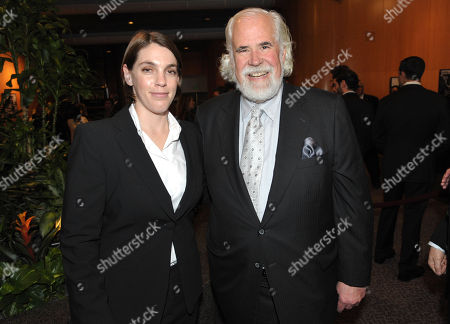 """Producer Megan Ellison and Sony's Jeff Blake attend the LA special screening of """"American Hustle"""", on in Los Angeles"""