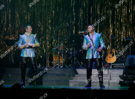 Stock Picture of Seamus Dever and Jon Huertas perform onstage at the 14th annual 'Les Girls' at Avalon on in Hollywood, California