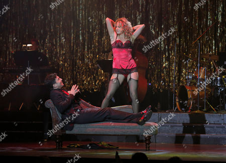 Stock Picture of Alexis Carra and Micah Sloat perform at the 14th annual 'Les Girls' at Avalon on in Hollywood, California