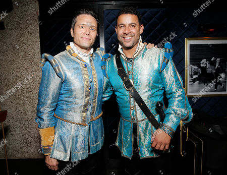 Seamus Dever and Jon Huertas backstage at the 14th annual 'Les Girls' at Avalon on in Hollywood, California