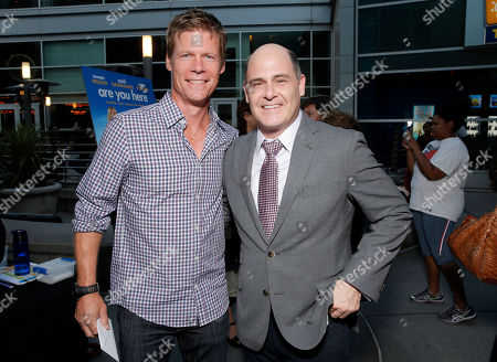 Stock Photo of Joel Gretsch and Director Matthew Weiner attend the premiere of 'Are You Here' at ArcLight Hollywood on in Hollywood, California