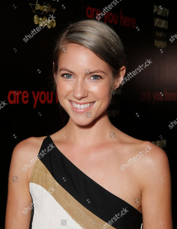 Laura Ramsey attends the premiere of 'Are You Here' at ArcLight Hollywood on in Hollywood, California