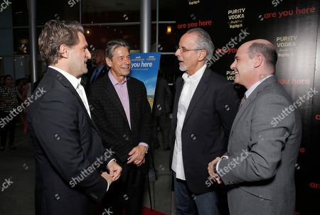 L-R) Producer Gary Gilbert,CEO Millennium Entertainment Bill Lee, filmmaker Jon Avnet, writer/director Matthew Weiner attend the premiere of 'Are You Here' at ArcLight Hollywood on in Hollywood, California
