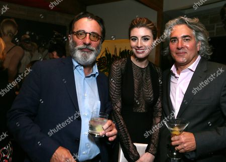 "Andy Garcia, Dominik Garcia-Lorido and Mitch Glazer at the ""Magic City"" season 2 premiere after party, in Los Angeles"