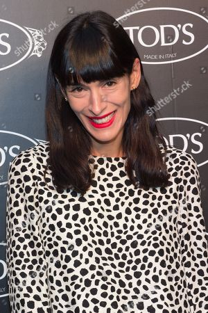 Athena Calderone arrives at Tod's Boutique Re-Opening party, in New York