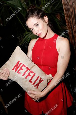 "Marguerite Moreau seen at Netflix Presents ""The Do-Over"" Los Angeles Premiere at Regal Cinemas LA Live, in Los Angeles"