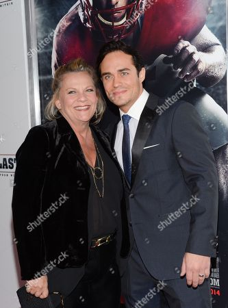 "Stock Picture of Actors Kim Zimmer and Bram Hoover attend the premiere of ""23Blast"" at the Regal Cinemas E-Walk Theater on in New York"