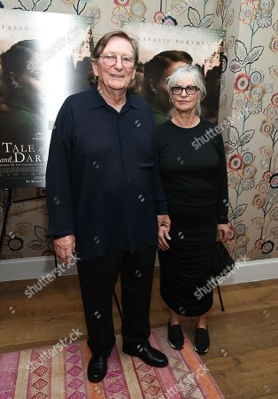 """Director Fred Schepisi and wife Mary Schepisi attend the premiere of """"A Tale of Love & Darkness"""", at The Crosby Street Hotel, in New York"""