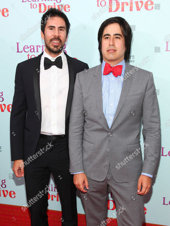 "Gabriel Hammond, left, and Daniel Hammond, right, attend the premiere for ""Learning To Drive"" at The Paris Theatre, in New York"