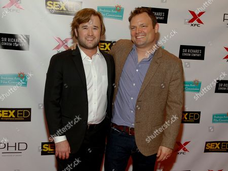 "Stock Photo of Haley Joel Osment, left, and Isaac Feder, right, attend the New York premiere of ""Sex Ed"" at AMC Empire 25, in New York"