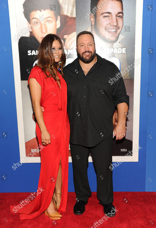 "Actor Kevin James and wife Steffiana De La Cruz attend the premiere of ""Grown Ups 2"" at the AMC Loews Lincoln Square on in New York"