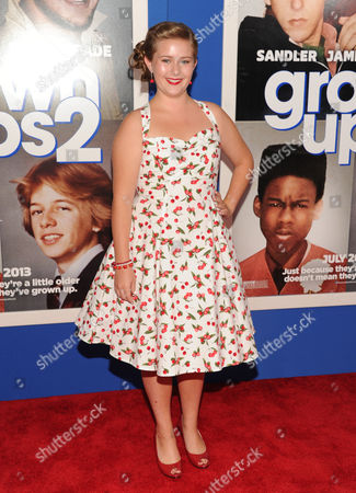 """Stock Image of Actress Ada-Nicole Sanger attends the premiere of """"Grown Ups 2"""" at the AMC Loews Lincoln Square on in New York"""