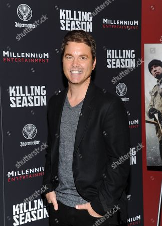 """Director Mark Steven Johnson attends a special screening of """"Killing Season"""" hosted by Jagermeister at the Sunshine Landmark Theater on in New York"""