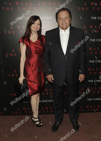 """Dee Dee Benkie, left, and Paul Sorvino, right, attend a screening of """"A Walk Among The Tombstones"""" on in New York"""