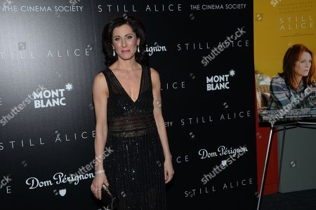 """Stock Image of Author Lisa Genova attends a special screening of """"Still Alice"""" at the Landmark Sunshine Cinema and Montblanc, in New York"""
