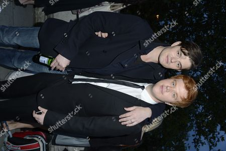 Sam Riley, Danny Morgan poses at On The Road - After Party at Somerset House on in London