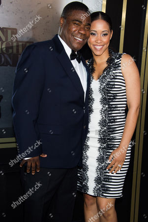 Tracy Morgan and Megan Wollover attend One Night Only: An All-Star Tribute To Don Rickles on in New York