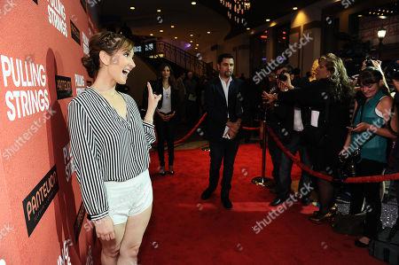 "Aurora Papile arrives at Pantelion Films' ""Pulling Strings"" Los Angeles premiere at Regal Cinemas L.A. Live on in Los Angeles"