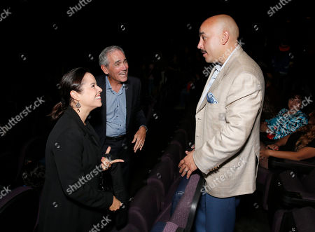 "Patricia Riggen, Pantelion Films' Chairman James McNamara and Lupillo Rivera attend Pantelion's ""Filly Brown"" Los Angeles Premiere Hosted by the Rivera Family at the Regal LA Live Stadium on in Los Angeles"
