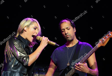 Emily Haines and Joshua Winstead of Metric perform in concert at the Independence Events Center on in Independence, Missouri