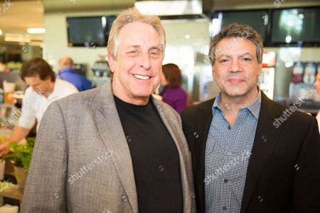 Charles Roven and Michael De Luca at the PGA Nominees Breakfast, on in Los Angeles