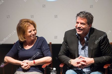 Letty Aronson and Michael De Luca at the PGA Nominees Breakfast, on in Los Angeles