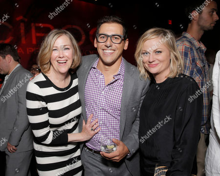 "Catherine O'Hara, Director Stu Zicherman and Amy Poehler attend the Los Angeles Premiere of ""A.C.O.D."" Powered by CIROC Vodka, at The W Hotel on in Los Angeles"