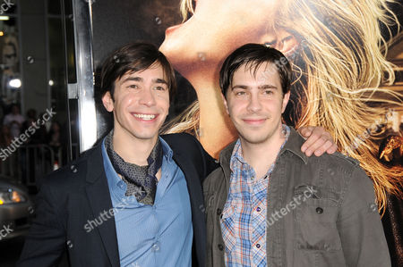 Stock Image of Justin Long and brother Christian Long