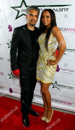 """Event hosts Sol Aponte and Jennia Fredrique seen at her Private Screening of """"Beyond the Talent"""", on at Smoke & Mirrors in West Hollywood. California"""