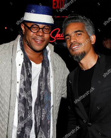 """Actor Rockmond Dunbar and event host Sol Aponte seen at her Private Screening of """"Beyond the Talent"""", on at Smoke & Mirrors in West Hollywood. California"""
