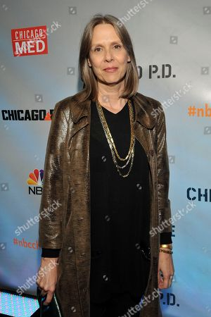 """Amy Morton seen at Red Carpet Event for NBC's """"Chicago Fire,"""" """"Chicago P.D."""" and """"Chicago Med"""" at STK, in Chicago"""