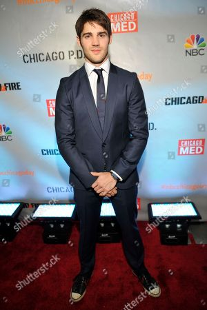 """Stock Image of Steven R. McQueen seen at Red Carpet Event for NBC's """"Chicago Fire,"""" """"Chicago P.D."""" and """"Chicago Med"""" at STK, in Chicago"""
