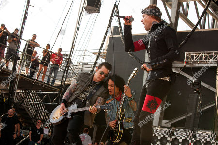 Keith Nelson, Stevie D. and Josh Todd of Buckcherry perform at Rock on the Range on in Columbus, Ohio
