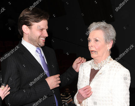 "Filmmaker Matthew Miele and Bergdorf Goodman personal shopper Betty Halbreich attend the ""Scatter My Ashes At Bergdorf''s"" premiere at Florence Gould Hall on in New York"