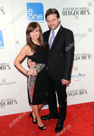"""Filmmaker Matthew Miele and wife Sara Gore attend the """"Scatter My Ashes At Bergdorf's"""" premiere at Florence Gould Hall on in New York"""
